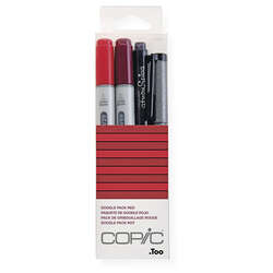 Copic - Copic Doodle Pack 4lü Set Red