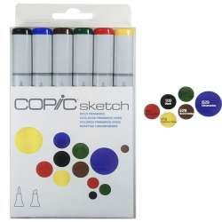 Copic - Copic Sketch Marker 6lı Set Bold Primaries