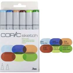 Copic - Copic Sketch Marker 6lı Set Earth Essentials