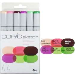 Copic - Copic Sketch Marker 6lı Set Froral Favorites 1