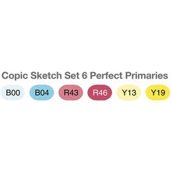 Copic - Copic Sketch Marker 6lı Set Perfect Primaries (1)