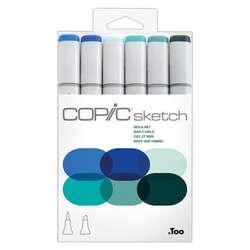Copic - Copic Sketch Marker 6lı Set Sea & Sky