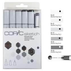 Copic - Copic Sketch Marker 6lı Set Sketching Grays
