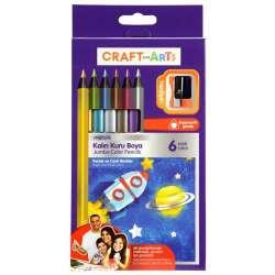 Craft & Arts - Craft and Arts Kuru Boya Jumbo Metalik 6lı Paket