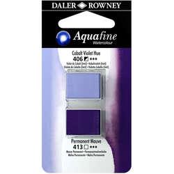 Daler Rowney - Daler Rowney Aquafine Sulu Boya Tablet 2li Cobalt Violet-Mauve