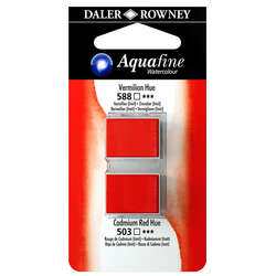 Daler Rowney - Daler Rowney Aquafine Sulu Boya Tablet 2li Vermilion-Cad. Red