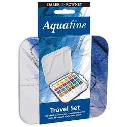 Daler Rowney - Daler Rowney Aquafine Sulu Boya Travel Set Yarım Tablet 24lü