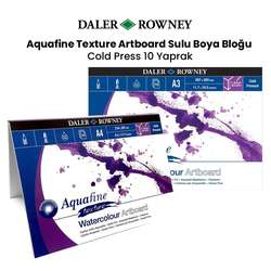 Daler Rowney - Daler Rowney Aquafine Texture Artboard Sulu Boya Bloğu 10 Yaprak