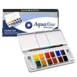 Daler Rowney - Daler Rowney Aquafine Tablet Sulu Boya Seti 12li 1/2 Tablet