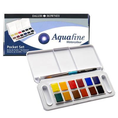 Daler Rowney Aquafine Tablet Sulu Boya Seti 12li 1/2 Tablet