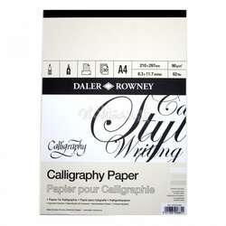 Daler Rowney - Daler Rowney Calligraphy Paper Kaligrafi Kağıdı 90g 30 Sayfa A4
