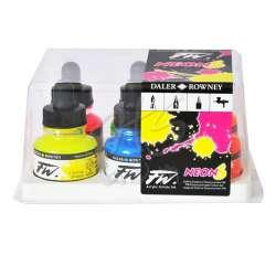 Daler Rowney - DR FW Acrylic Artist Ink 29.5ml 6lı Neon Set 160329006