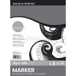 Daler Rowney - Daler Rowney Simply Marker Pad 70g 50 Yaprak A3
