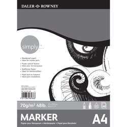 Daler Rowney - Daler Rowney Simply Marker Pad 70g 50 Yaprak A4