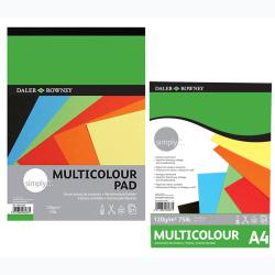 Daler Rowney - Daler Rowney Simply Multicolour Blok 120g 21 Yaprak