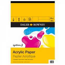 Daler Rowney - Daler Rowney System 3 A4 230 gr Akrilik Blok