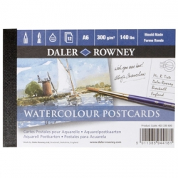 Daler Rowney - Daler Rowney Watercolour Postcards A6 12 Yaprak 300g