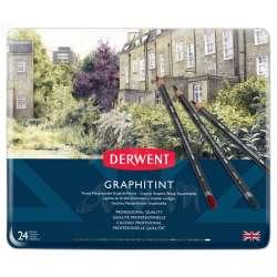 Derwent - Derwent Graphitint Sulandırılabilen Renkli Grafit Kalem 24lü Set
