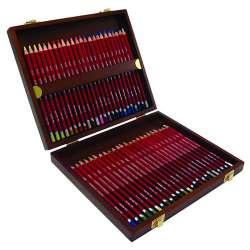 Derwent - Derwent Pastel Pencils 48li Ahşap Kutu Pastel Kalem Seti (1)