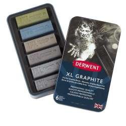 Derwent - Derwent XL Graphite XL Grafit Blokları 6lı Teneke Kutu