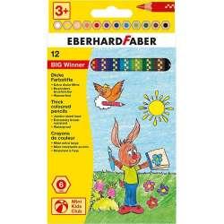 Eberhard Faber - Eberhard Faber Big Winner Jumbo Kuru Boya Kalemi 12li 518712