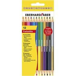 Eberhard Faber - Eberhard Faber Çift Taraflı Kuru Boya Kalemi 3mm 12li 514811