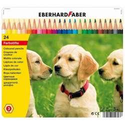Eberhard Faber - Eberhard Faber Kuru Boya Kalem Seti 3.0mm Metal Kutu 24lü 514823