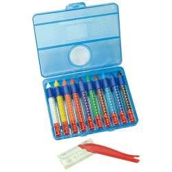 Eberhard Faber - Eberhard Faber Wax Crayons Sulandırılabilir Pastel 10lu 521110 (1)