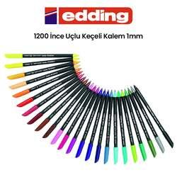 Edding - Edding 1200 İnce Uçlu Keçeli Kalem 1mm