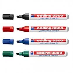 Edding - Edding 3300 Kesik Uçlu Permanent Markör Kalemi 1-5mm
