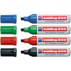 Edding - Edding 500 Kesik Uçlu Permanent Markör Kalem 2-7mm
