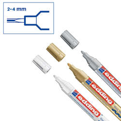 Edding - Edding 750 Gloss Paint Marker Metalik Renkler 2-4mm 3lü Set (1)