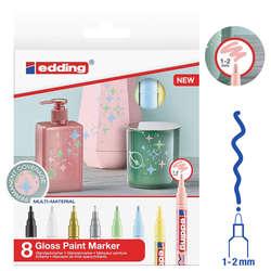 Edding - Edding 751 Gloss Paint Marker Ana Renkler 1-2mm 8li Set