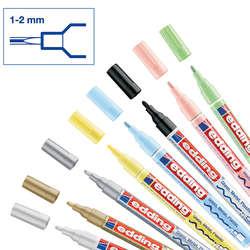Edding - Edding 751 Gloss Paint Marker Ana Renkler 1-2mm 8li Set (1)