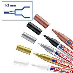 Edding - Edding 751 Gloss Paint Marker Metalik Renkler 1-2mm 5li Set (1)