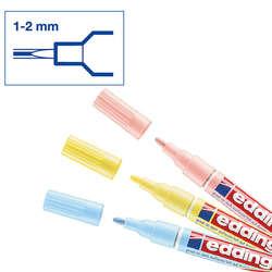 Edding - Edding 751 Gloss Paint Marker Pastel Renkler 1-2mm 3lü Set (1)
