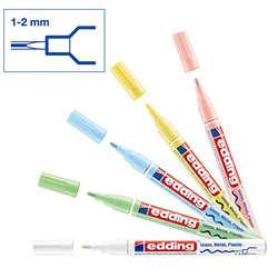 Edding - Edding 751 Gloss Paint Marker Pastel Renkler 1-2mm 5li Set (1)
