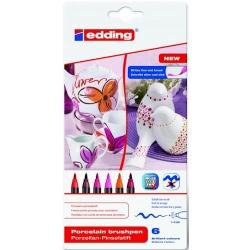 Edding - Edding Porselen Kalemi 6lı Set 4200 Sıcak Renkler
