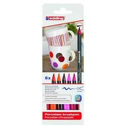 Edding - Edding Porselen Kalemi 6lı Set 4200 Sıcak Renkler (1)