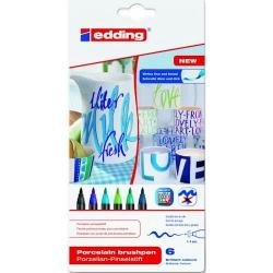 Edding - Edding Porselen Kalemi 6lı Set 4200 Soğuk Renkler