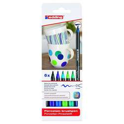 Edding - Edding Porselen Kalemi 6lı Set 4200 Soğuk Renkler (1)