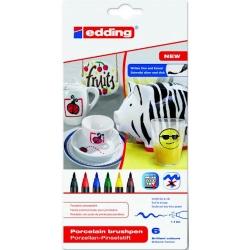 Edding - Edding Porselen Kalemi 6lı Set 4200 Standart Renkler