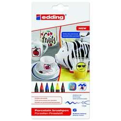 Edding - Edding Porselen Kalemi 6lı Set 4200 Standart Renkler (1)