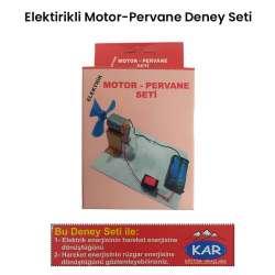 Kar - Elektrik Motor-Pervane Deney Seti
