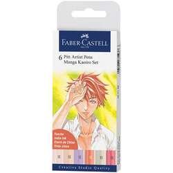 Faber Castell - Faber Castell 6 Pitt Artist Pen Manga Kaoiro Set 167168