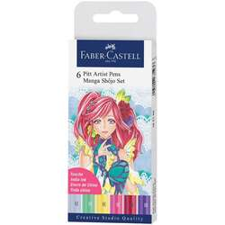 Faber Castell - Faber Castell 6 Pitt Artist Pen Manga Shojo Set 167155