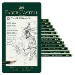 Faber Castell - Faber Castell 9000 Dereceli Kalem 12li Art Set