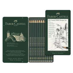 Faber Castell - Faber Castell 9000 Dereceli Kalem 12li Design Set
