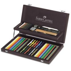 Faber Castell - Faber Castell Art&Graphic Compendium Ahşap Kutulu Set 110088