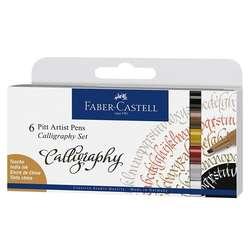 Faber Castell - Faber Castell Calligraphy Seti 6lı 167506